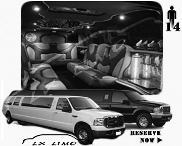 Lincoln Excursion SUV Limo for hire in Nashville, TN