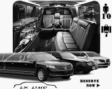 Stretch Limo airport shuttle in Nashville