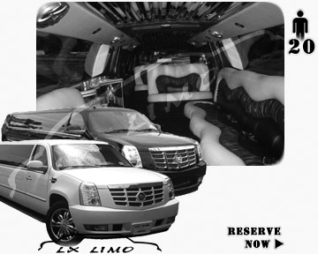 Cadillac Escalade 20 passenger SUV Limousine for rental in Nashville, TN